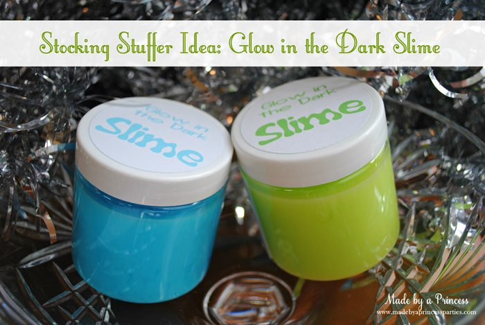 stocking stuffer idea glow in the dark slime