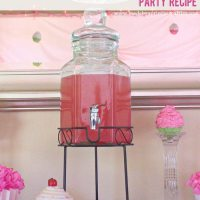 Alcoholic Version Sparkling Pink Party Punch