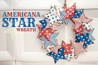 americana star wreath