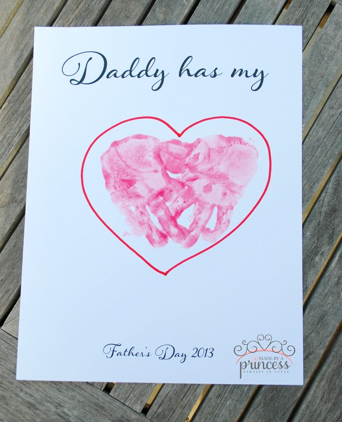 fathers day craft daddy has my heart step5