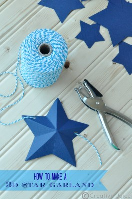 how to make a 3d star garland by @mindy_cone