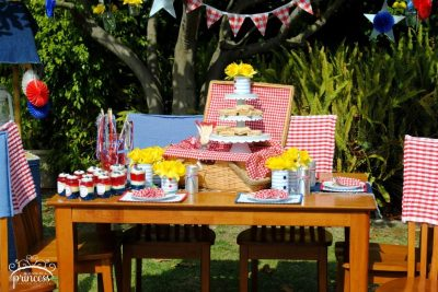 4th of july picnic table