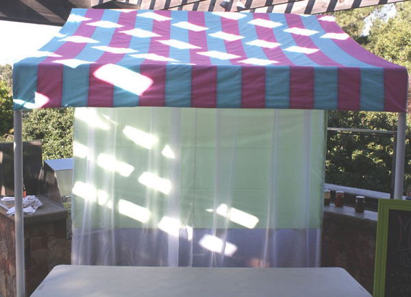 How to Make a PVC Canopy add fabric canopy for shade