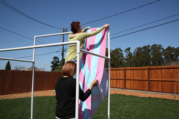 How to Make a PVC Canopy attach fabric canopy to the frame