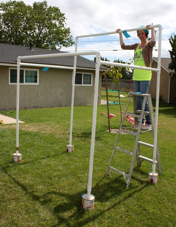 How to Make a PVC Canopy back of the canopy will be taller