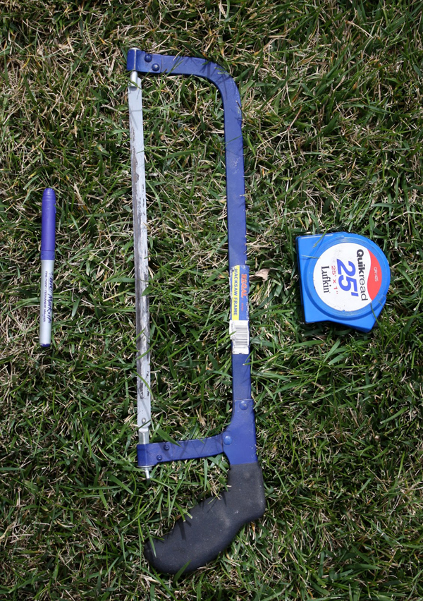 How to Make a PVC Canopy you will need a saw a pen and tape measure