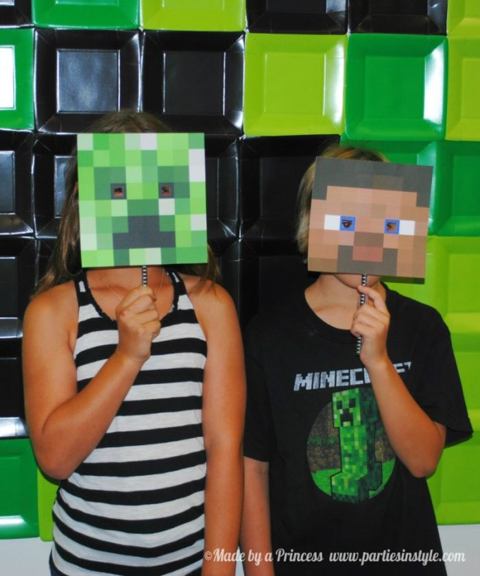 Minecraft-party-photobooth