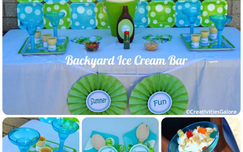 Backyard Ice Cream Bar