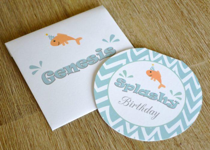Free Splash Birthday Invitation Download