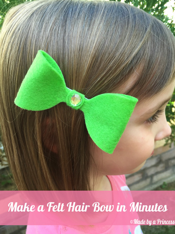 sizzix felt hair bow green bow