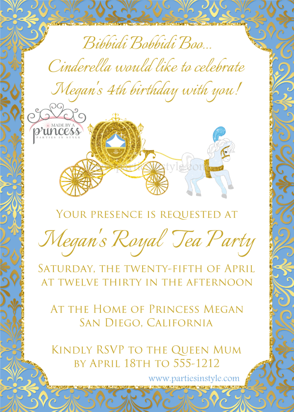 cinderella movie invitation
