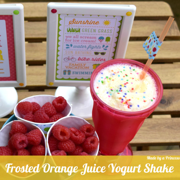 made by a princess frosted orange juice shake