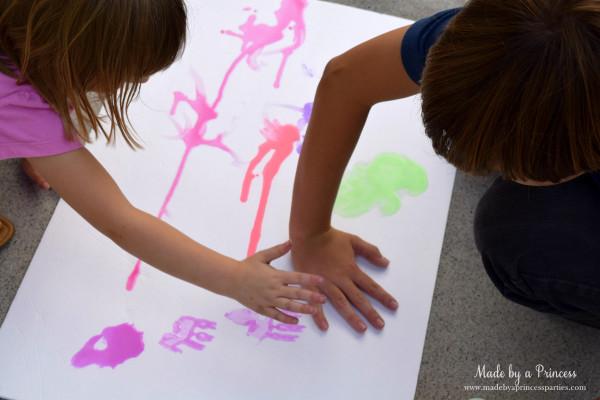 made by a princess chalk paint handprints