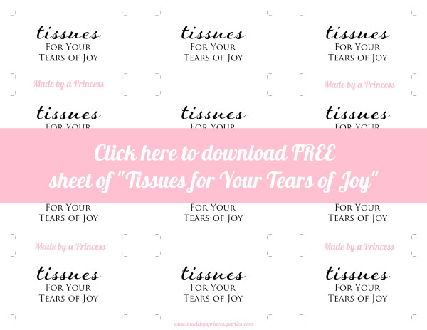made by a princess tears of joy free sheet