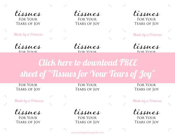 made by a princess tears of joy free sheet