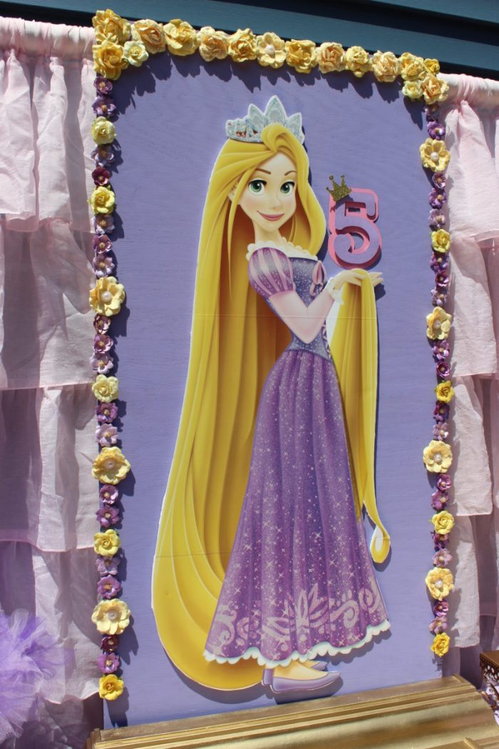 best day ever rapunzel party by tabletop treats backdrop