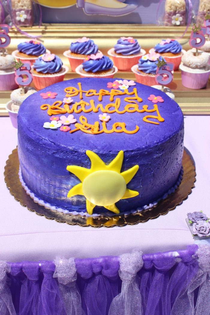 best day ever rapunzel party by tabletop treats cake