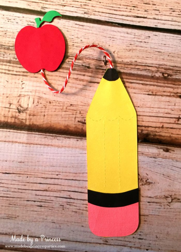 sizzix pencil bookmark