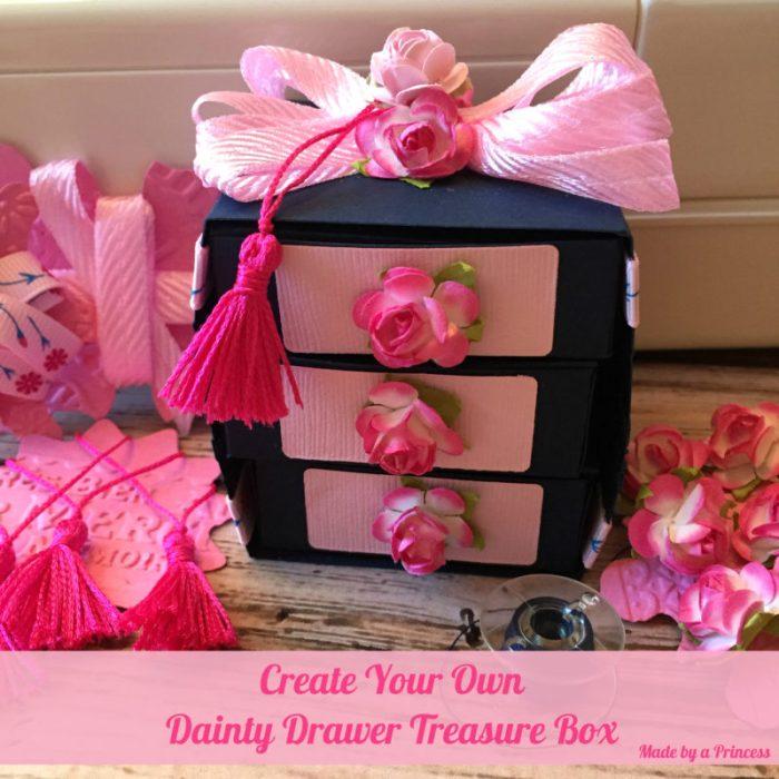 made by a princess: sizzix dainty drawer box