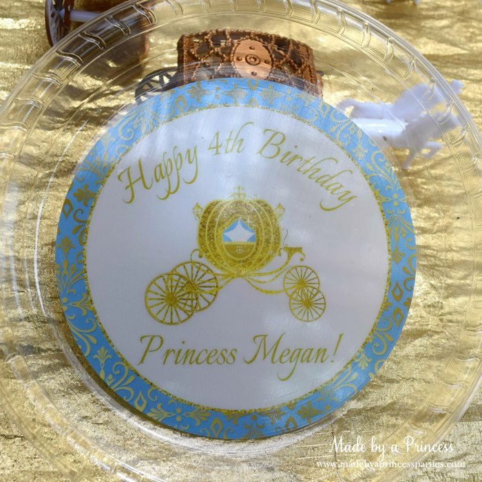Princess Cinderella Party Will Leave You Enchanted create ur plate