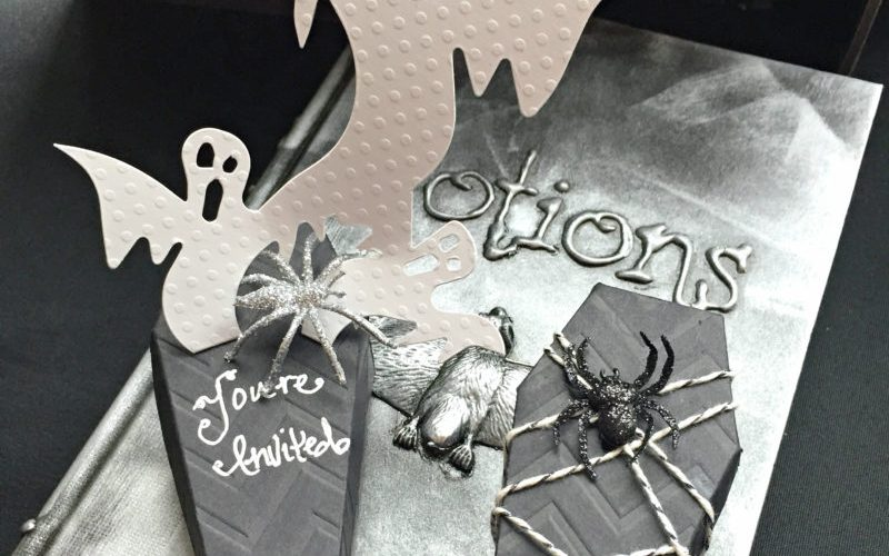 How to Make Spooky Halloween Coffin Invitations