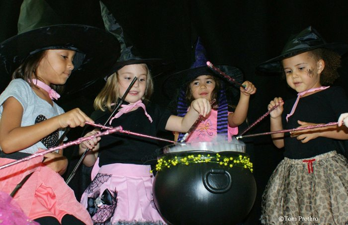 witch tea party casting spells