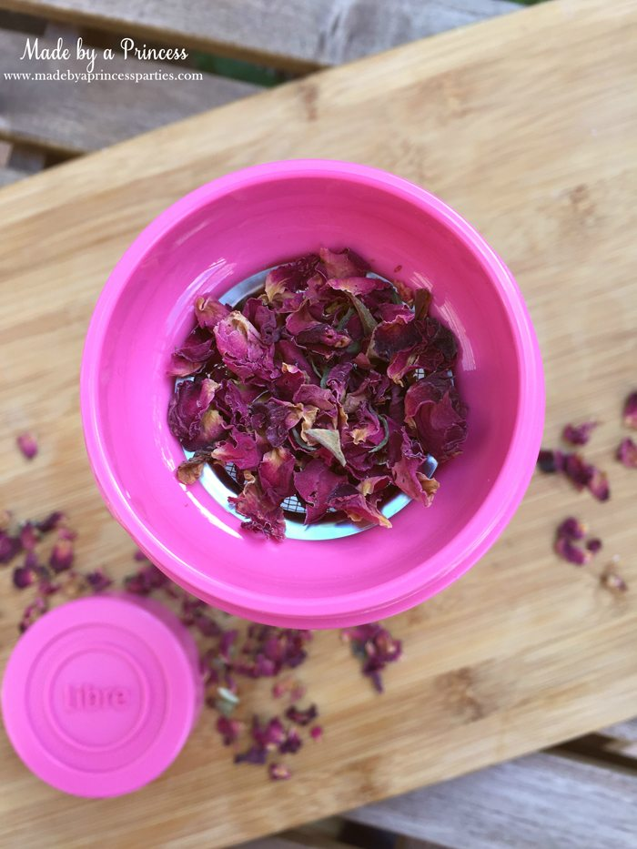 libre tea travel infuser with dried roses 3