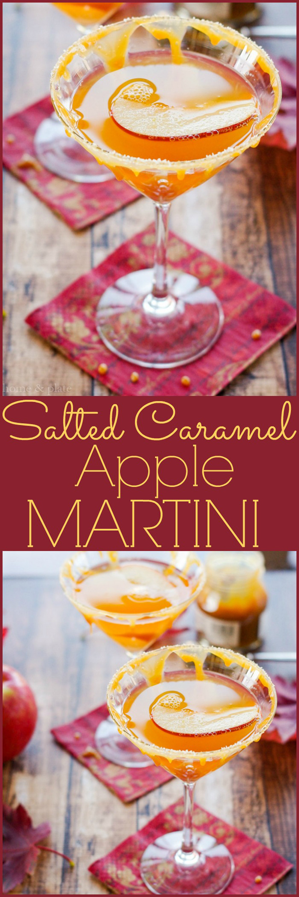 salted caramel apple martini home and plate