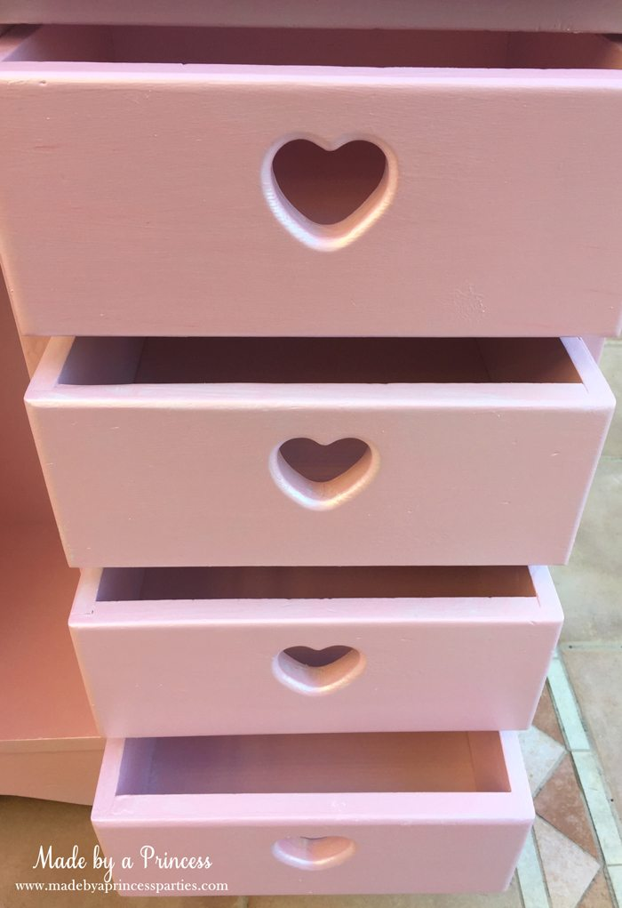 antique cabinet pink pearl makeover drawers