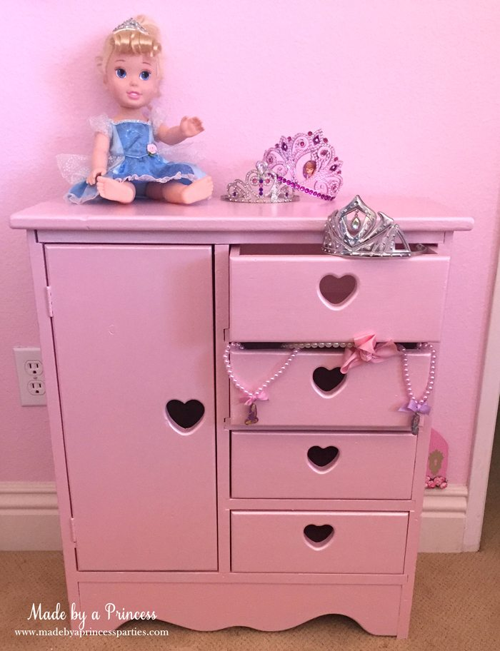 antique cabinet pink pearl makeover filled with treasures