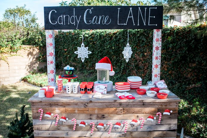 candy cane lane christmas party cocoa bar 2