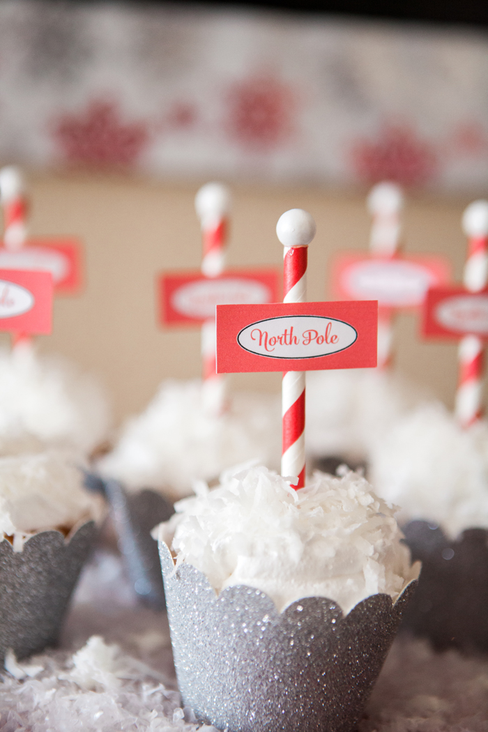 candy cane lane christmas party snowball cupcakes