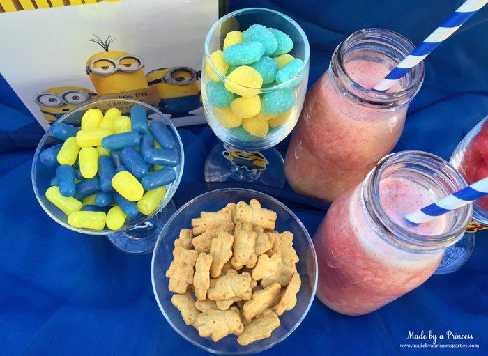 minions movie night lava mocktail snacks and drinks