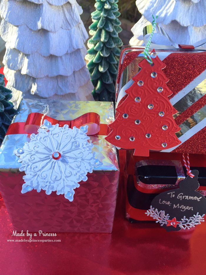 sizzix festive blog hop wrapping paper gift tags set