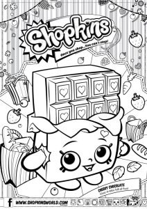 Shopkins Coloring Pages Season 1 Cherry Chocolate