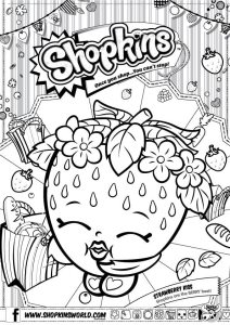 Shopkins Coloring Pages Season 1 Strawberry Kiss