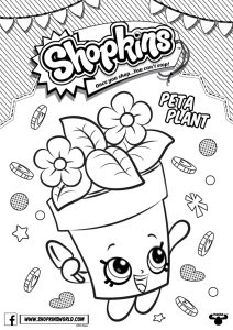 Shopkins Coloring Pages Season 4 Peta Plant