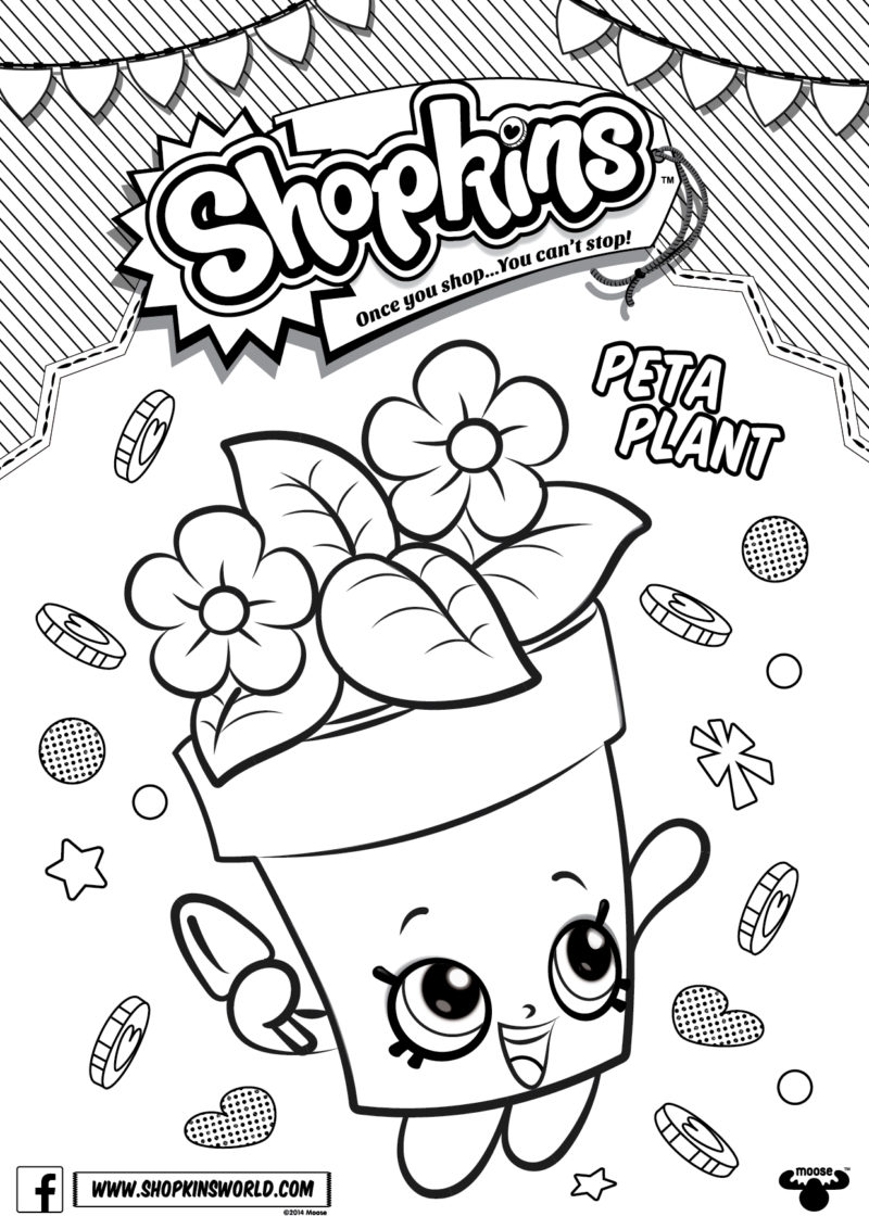 Coloring games of shopkins - Shopkins Coloring Pages Season 4 Peta Plant