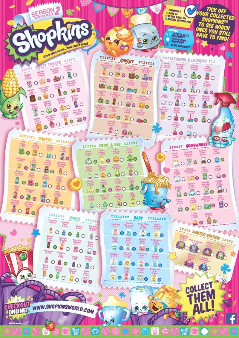 Online coloring shopkins - Shopkins Season 2 Collectors Guide Checklist