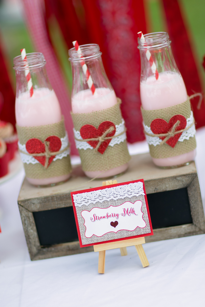 celebrate happy hearts day with strawberry milk