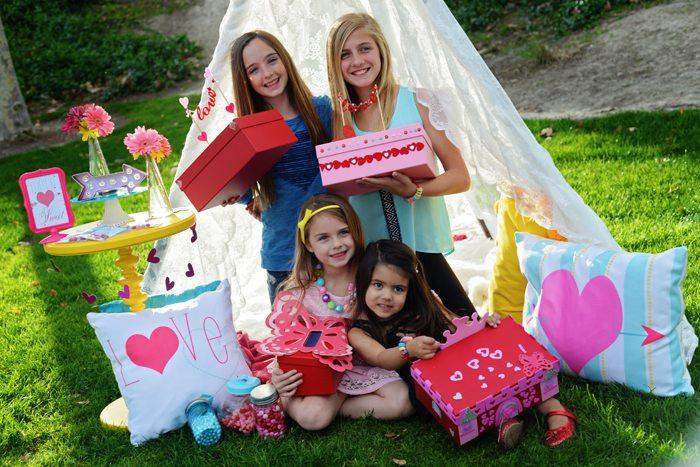 Creative Kids Valentine Party Ideas girls wanna have fun