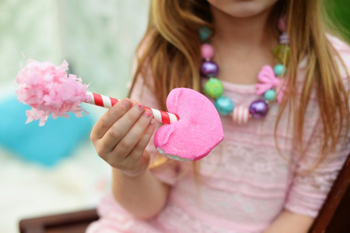 Creative Kids Valentine Party Ideas marshmallow treat