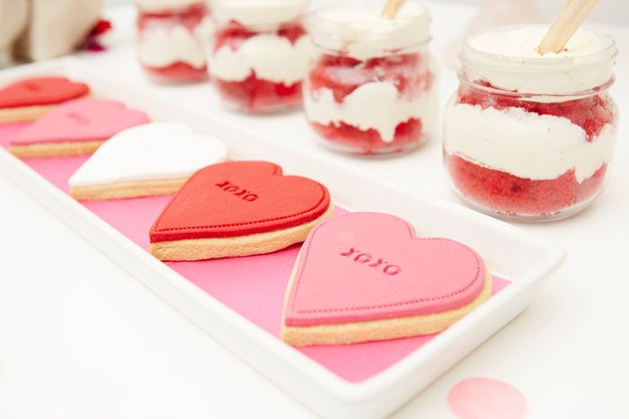 Kissing Booth Valentines Day Party cookies