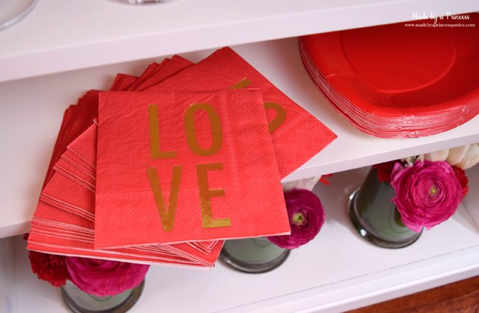 galentines day champagne fondue buffet love napkins