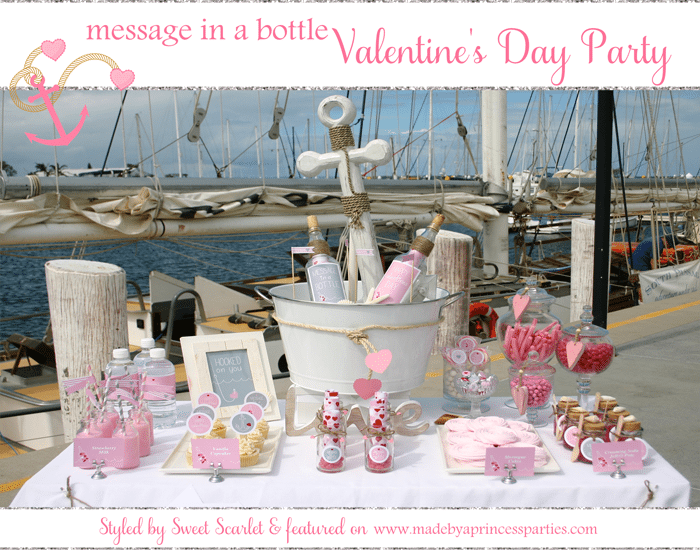 message in a bottle valentine party
