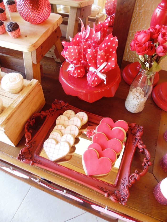 sweet on you valentine party sugar cookies and favors