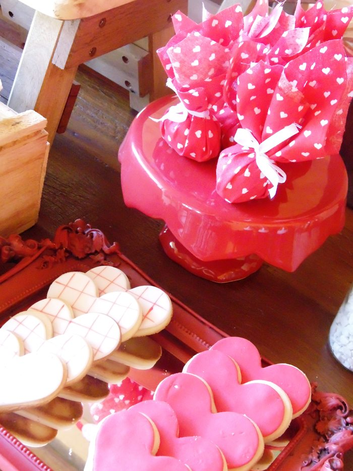 sweet on you valentine party sugar cookies