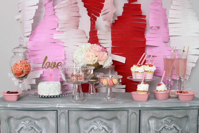 sweethearts treats for two table of sweets