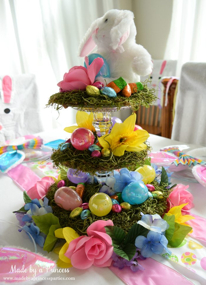 budget friendly easter ideas centerpiece side view