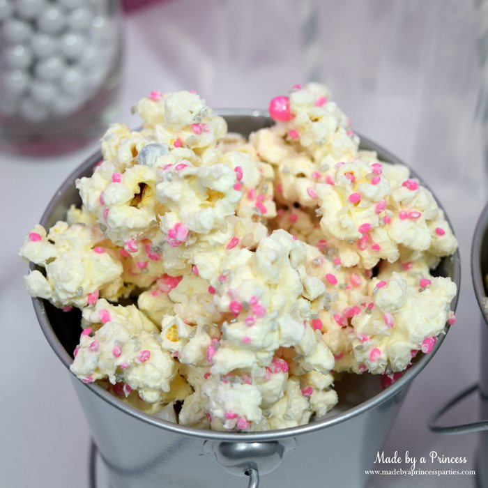 candy sprinkled chocolate covered popcorn pink